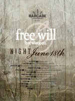Free Will Brewing Co Night — June 18th, 2015