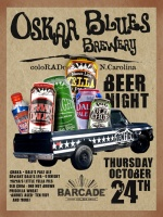 Oskar Blues Night — October 24, 2013 at Barcade® in Jersey City, NJ