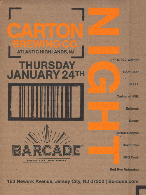 Carton Brewing Co. Night — January 24, 2013