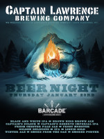 Captain Lawrence Brewing Night — January 23, 2014 at Barcade® in Jersey City, NJ