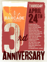 Barcade 3rd Anniversary — April 24th, 2014 in Barcade® in Jersey City, NJ
