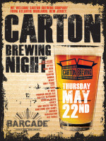 Carton Brewing Night — May 22, 2014 at Barcade® in Jersey City, NJ