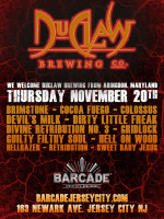 DuClaw Brewing Co. Night — November 20th, 2014 at Barcade® in Jersey City, NJ
