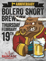Bolero Snort — February 19, 2015 at Barcade® in Jersey City, NJ