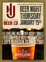 New Jersey Beer Co. Night — January 15, 2015 at Barcade® in Jersey City, NJ
