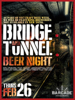 Bridge And Tunnel Beer NIght — February 26th, 2015 at Barcade® in Jersey City, NJ