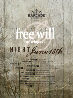 Free Will Brewing Co Night — June 18th, 2015 at Barcade® in Jersey City, NJ