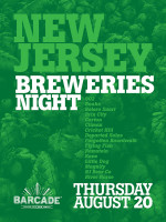 New Jersey Breweries Night — August 20, 2015 at Barcade® in Jersey City, New Jersey