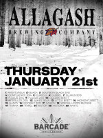 Allagash Brewing Company Night — January 21, 2016 at Barcade® in Jersey City, NJ