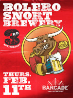 Bolero Snort Brewery 3rd Anniversary — February 11, 2016 at Barcade® in Jersey City, NJ