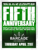 5th Anniversary Party — April 21, 2016 at Barcade® in Jersey City, NJ