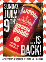 Harpoon Sriracha Blonde Exclusive Barcade® Beer Release — July 9, 2017 at Barcade® in Jersey City, NJ (Only Available at Barcade Locations)