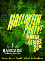 Barcade Halloween Party — October 28, 2017 at Barcade® in Jersey City, NJ | Spooky Tap List and music play list