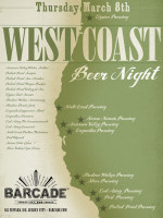 West Coast Beer Night — March 8, 2012