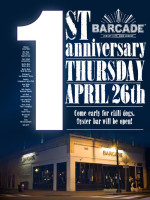 Barcade Jersey City 1st Anniversary — April 26, 2012