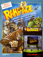 Rampage — 1986 at Barcade® in Jersey City, NJ | arcade video game flyer graphic