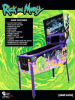 Rick and Morty (pinball) — 2020 at Barcade® in Jersey City, NJ | arcade video game flyer graphic