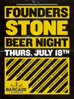 Founders / Stone Night — July 18, 2013 at Barcade® in Jersey City, NJ