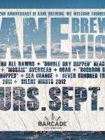 Kane Brewing Night — September 26, 2013 at Barcade® in Jersey City, NJ