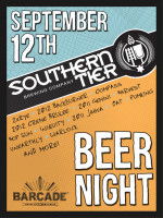 Southern Tier Night — September 12, 2013 at Barcade® in Brooklyn, New York