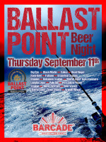 Ballast Point Brewing Night — September 11, 2014 at Barcade® in Jersey City, NJ