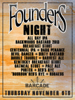 Founders Night — November 6, 2014 at Barcade® in Jersey City, NJ