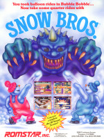 Snow Bros. — 1990 at Barcade® in Jersey City, NJ | arcade video game