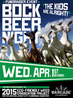 Bock Beer Fundraiser Event — April 1, 2015 at Barcade® in Jersey City, NJ