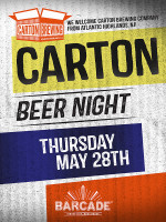 Carton Brewing Night — May 28th, 2015 at Barcade® in Jersey City, NJ