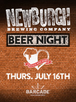 Newburgh Brewing Company Night — July 16, 2015 at Barcade® in Jersey City