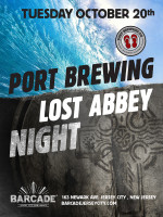 Port Brewing | Lost Abbey Night — October 20, 2015 at Barcade® in Jersey City, New Jersey