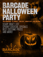 Barcade Halloween Party! on Saturday, October 31st at Barcade® in Jersey City, New Jersey
