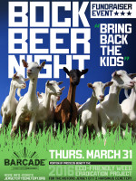 Bock Beer Night - Fundraiser Event —March 31, 2016 at Barcade® in Jersey City, NJ