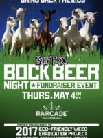 Barcade® Sly Fox Brewing Bock Beer Night and Fundraiser Event — Thursday, May 4, 2017 in Jersey City, NJ