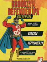 Brooklyn Defender Pint Night — September 28, 2017 at Barcade® in Jersey City, N.J.