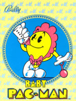 Baby Pac-Man — 1982 at Barcade® in Jersey City, New Jersey | arcade video game pinball hybrid