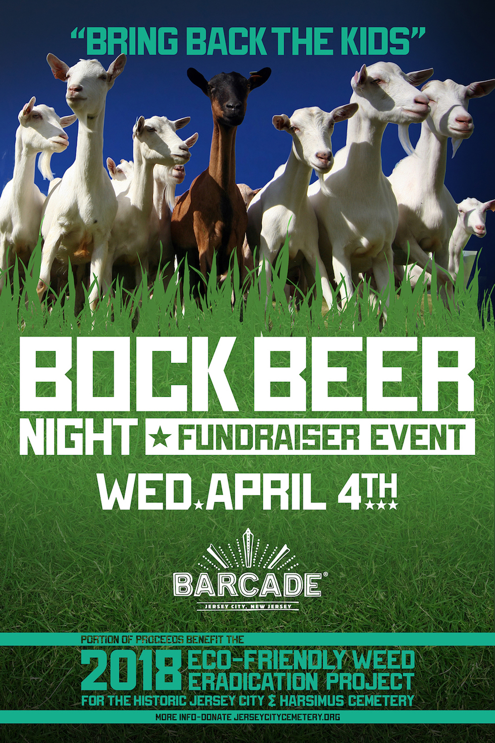 Bock Beer Night - Fundraiser Event — April 4, 2018 at Barcade® in Jersey City, NJ