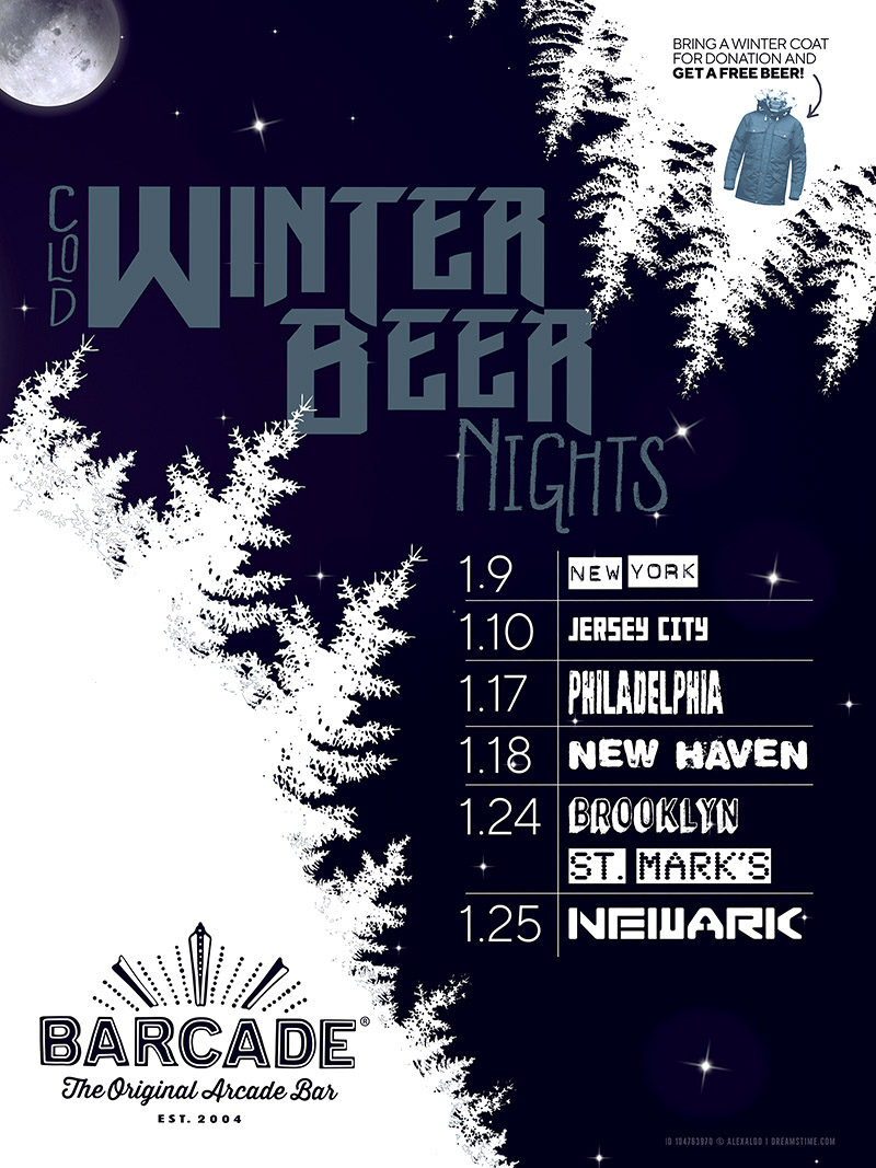 Winter Beer Night — January 10, 2019 at Barcade® in Jersey City, New Jersey