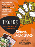 Troegs Beer Night (with Nugget Nectar!) — January 24, 2019 at Barcade® in Jersey City, New Jersey