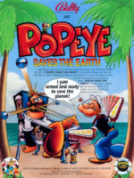 Popeye Saves the Earth (pinball) — 1994 at Barcade® in Jersey City, NJ | arcade video game flyer graphic