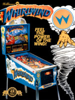 Whirlwind (pinball) — 1990 at Barcade® in Jersey City, NJ | arcade video game flyer graphic