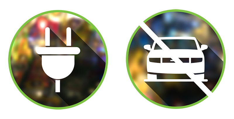 Barcade Eco-Friendly Electricity Savings | icons