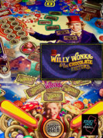 Willy Wonka and the Chocolate Factory (pinball) — 2019 at Barcade® in Jersey City, NJ | arcade video game flyer graphic