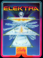 Elektra (pinball) — 1981 at Barcade® in Jersey City, NJ | arcade video game flyer graphic