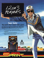 Super Sprint — 1986 at Barcade® in Jersey City, NJ | arcade video game flyer graphic