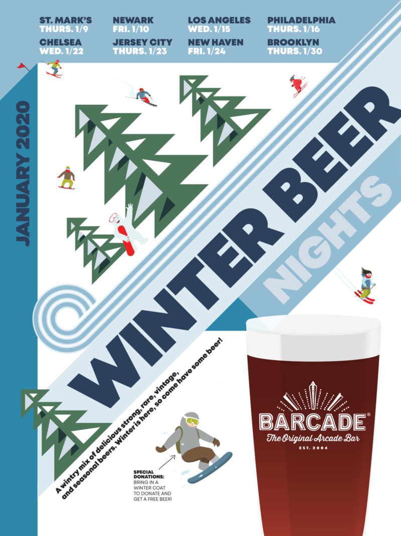 Winter Beer Night at Barcade on Thursday, January 23rd, 2020 in Jersey City, NJ