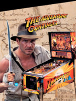 Indiana Jones (pinball) — 1993 at Barcade® in Jersey City, NJ | arcade video game flyer graphic
