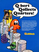 Q*Bert — 1982 at Barcade® in Jersey City, NJ | arcade video game flyer graphic