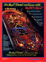 Black Belt (Pinball) — 1986 at Barcade® in Jersey City, NJ | arcade video game flyer graphic