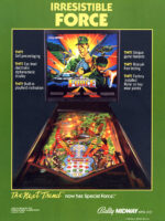 Special Force (pinball) — 1986 at Barcade® in Jersey City, NJ | arcade video game flyer graphic